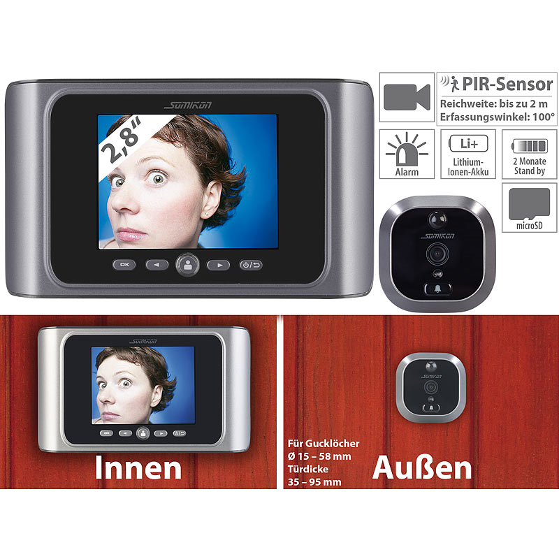 t rspion kameras digitale t rspion kamera mit bewegungserkennung 4022107190060 ebay. Black Bedroom Furniture Sets. Home Design Ideas