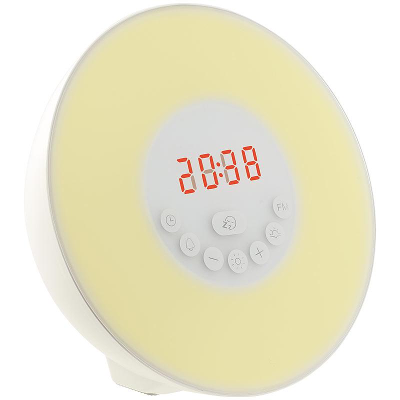 lichtwecker wake up licht radio wecker m sonnenaufgangs simulation naturt nen 4022107277945. Black Bedroom Furniture Sets. Home Design Ideas