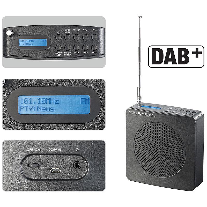 radio f r bad digitales dab fm radio dor 200 fm mit akku. Black Bedroom Furniture Sets. Home Design Ideas