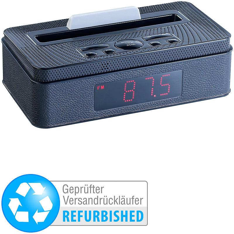 auvisio radio wecker mit bluetooth mp3 player klinke. Black Bedroom Furniture Sets. Home Design Ideas