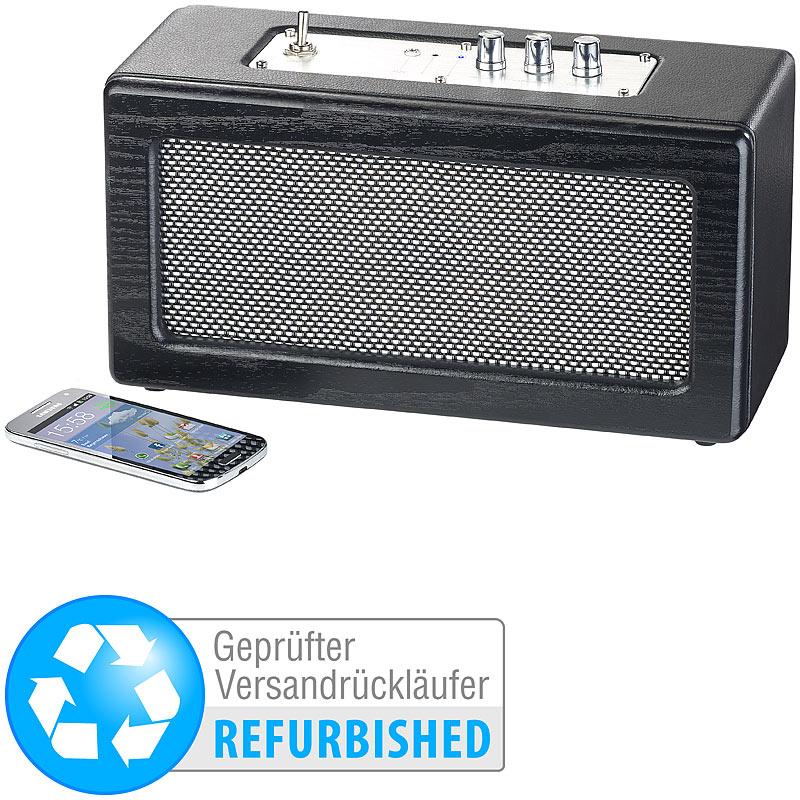 drahtlos lautsprecher mobiler retro lautsprecher 40 watt. Black Bedroom Furniture Sets. Home Design Ideas