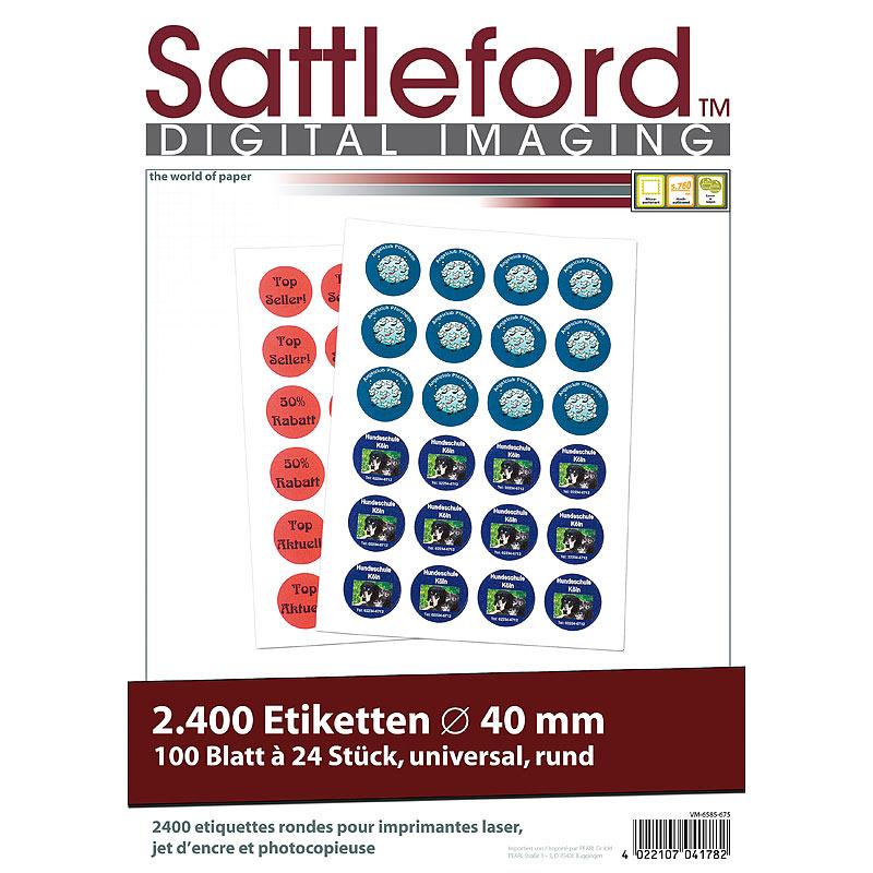 Klebeetiketten 1800 Etiketten oval 63,5x42,3 mm für Laser//Inkjet