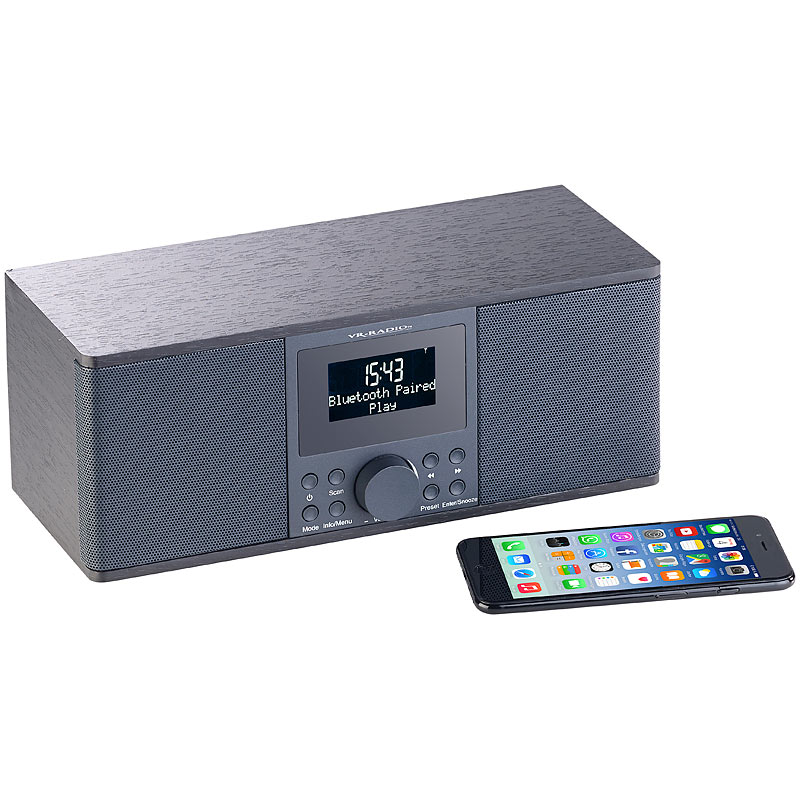 vr radio digitales dab fm stereo radio bluetooth. Black Bedroom Furniture Sets. Home Design Ideas