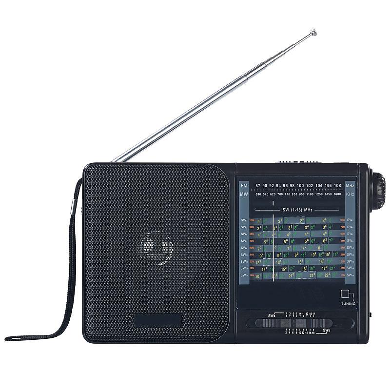 kofferradio analoger 20 band weltempf nger mit fm mw und. Black Bedroom Furniture Sets. Home Design Ideas