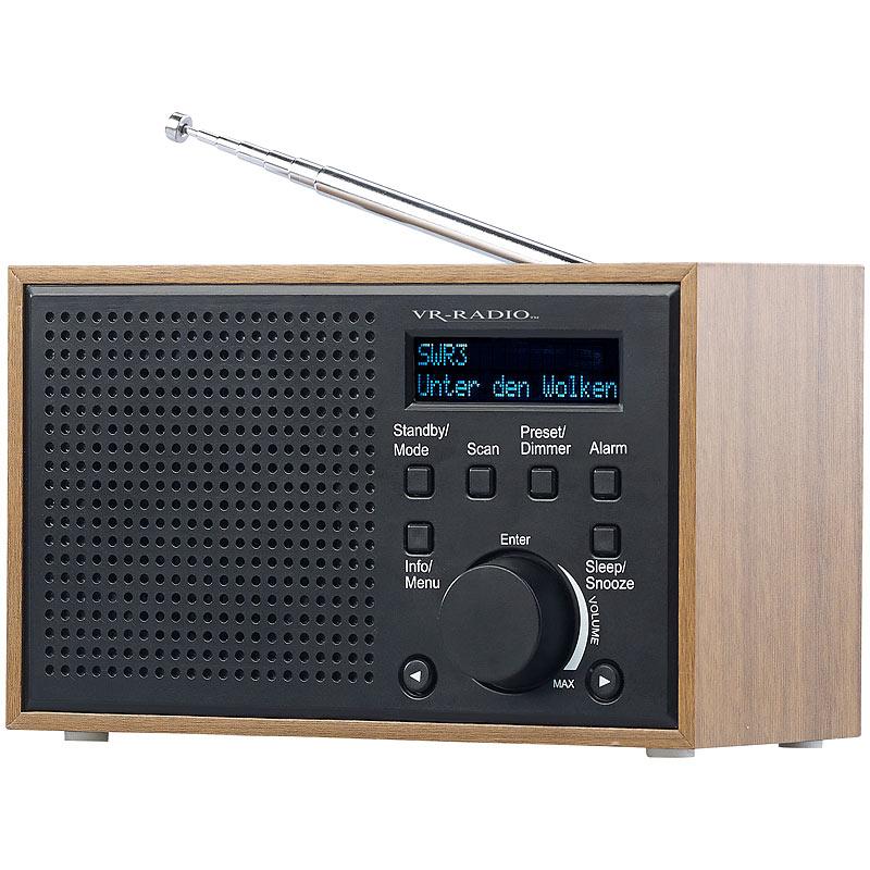 radiowecker digitales dab fm radio mit wecker lcd. Black Bedroom Furniture Sets. Home Design Ideas
