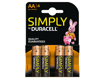 Simply Batterien AA Mignon LR6 Alkaline im 4er-Pack