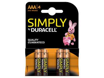 Simply Batterien AAA Micro LR03 Alkaline im 4er-Pack