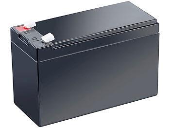 Wartungsfreie Blei-Akku-Batterie mit 12 V, 7,2 Ah, Flachstecker 4,8 mm