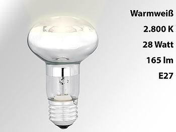 Halogen-Reflektor, R63, E27, 230 Volt, 165 Lumen, 28 Watt, warmweiß