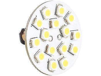 LED-Stiftsockellampe G4 (12V), 15 SMD LEDs kaltweiß, horizontal, 120°