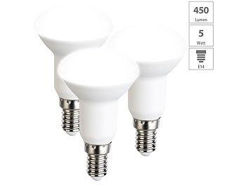 3er-Set LED-Reflektoren, R50, tageslichtweiß, 450 Lumen, E14, A+, 5 W
