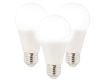 3er-Set LED-Lampe E27, Klasse A+, 11 W, tageslichtweiß 6400K, 1.055 lm