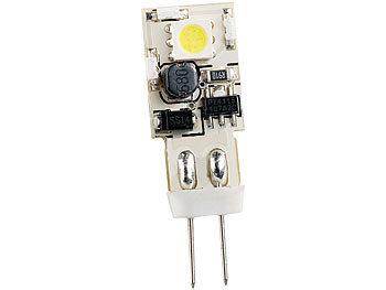Stiftsockellampe mit 8 SMD-LEDs, G4 (12V), warmweiß, 52 lm