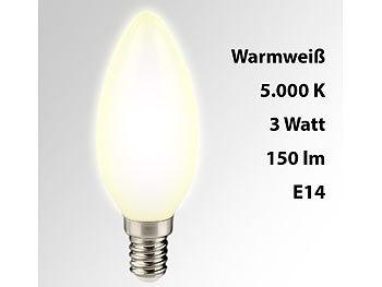 SMD-LED-Kerzenlampe, 3 W, E14, B35, 150 lm, warmweiß