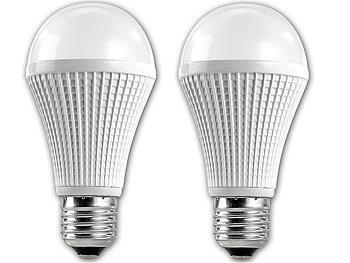 Highpower-LED-Lampe E27, 9 Watt, dimmbar, 5000 K, 720 Lumen, 2er-Set