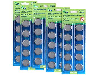 5er-Set Lithium-Knopfzellen CR2450, 3 Volt, jeweils im 5er-Sparpaket