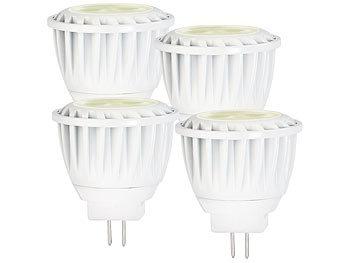 4er LED-Spot, GU4, MR11, 3,5 W, 12 V, warmweiß, 2.700 K, 200 lm