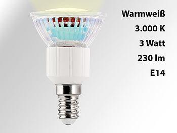 LED-Spot Sockel E14, 3 Watt, warmweiß, 3000 K, 240 Lumen
