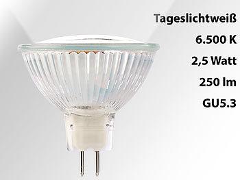 LED-Spotlight mit Glasgehäuse GU5.3, 3 W, 12V, 250lm, tageslichtweiß