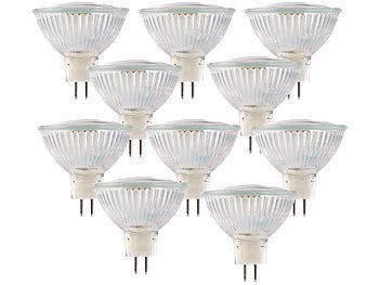 LED-Spotlight m. Glasgehäuse, GU5.3, 3 W, 12V, 250 lm, weiß, 10er-Set