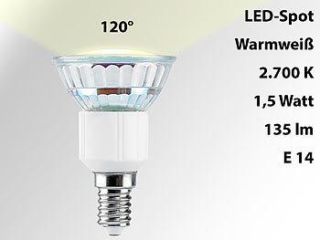 LED-Spot E14, 1,5W, warmweiß 2700K, 135 lm