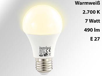 Lichtstarke LED-Lampe, 7 W, E27, 2700K, EEK A+, 480 lm, 180°