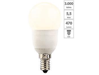 LED-Tropfen, E14, 5,5 W, 470 lm, 160°, 3.000 K, warmweiß