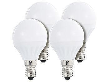 LED-Tropfen, 4 W, E14, 300 lm, 160°, P45-P, tageslichtweiß, 4-er Set
