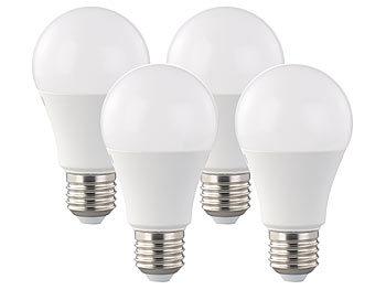 4er-Set LED-Lampen, 12 Watt, E27, dimmbar, warmweiß, 2700 K, 1055 lm