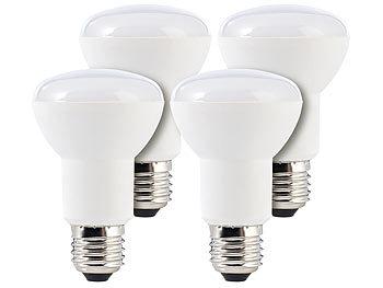 LED-Reflektor E27, R63, 8 W, 600 lm, tageslichtweiß 6.400 K, 4er-Set