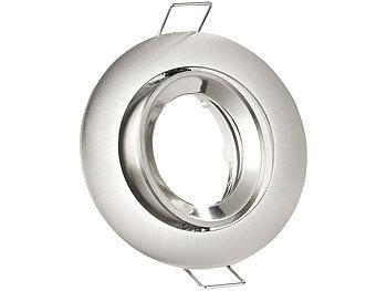 Einbaurahmen MR16, rund, Nickel gebürstet, für 1 Strahler