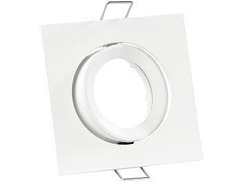 Einbaurahmen MR16, weiß, quadratisch, für 1 Strahler