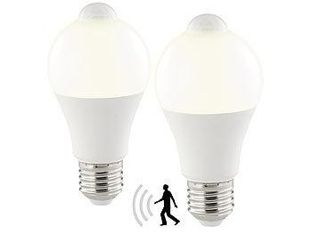 LED-Lampe, PIR-Sensor, 12 W, E27, warmweiß, 3000 K, 1.055 Lumen