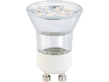 LED-Spotlight, Glasgehäuse, 100 lm, MR11, GU10, 1,2 Watt, weiß