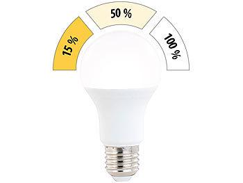 LED-Lampe mit 3 Helligkeits-Stufen, 10 W, 810 lm, E27, warmweiß, A60