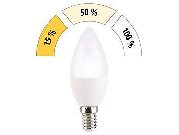 LED-Kerze, 3 Helligkeits-Stufen, tageslichtweiß, 6500 K, 5,5 W, E14