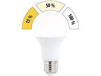 LED-Lampe mit 3 Helligkeitsstufen, 14 W, 1400 lm, E27, warmweiß, A60