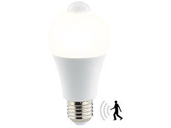 LED-Lampe, PIR-Sensor, 6,5 Watt, E27, warmweiß, 2700 K, 457 Lumen