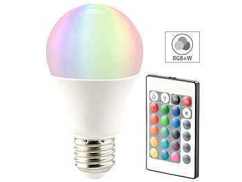 LED-Lampe, Color RGB & Warmweiß, E27, 10 Watt, mit Fernbedienung