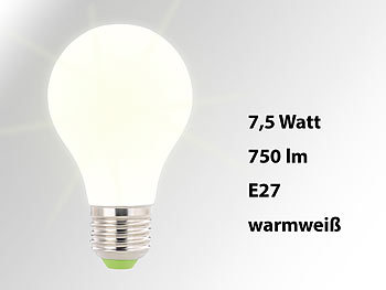 SMD-LED-Lampe, E27, 360°, 8 Watt, 750 Lumen, warmweiß