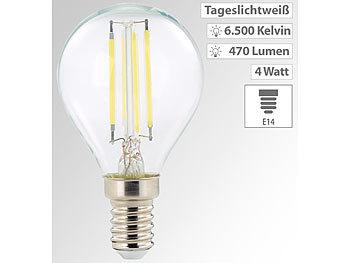 LED-Filament-Lampen, G45, E14, 470 lm, 4 W, 360°, 6.500 K