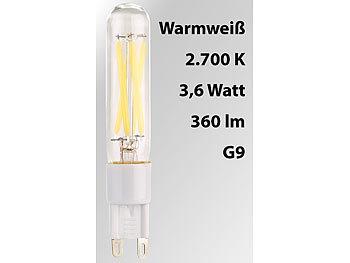 LED-Filament-Stiftsockellampe G9, 3,6 W, 360 lm, warmweiß 2.700 K, A+