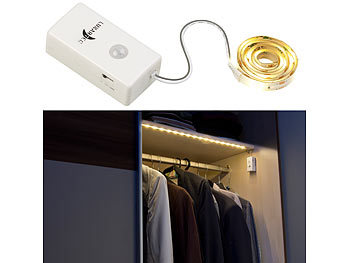Indoor-LED-Streifen, 18 LEDs, PIR-Sensor, Batteriebetrieb, 160lm, 60cm