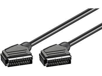 SCART-Anschlusskabel Stecker auf Stecker, doppelt abgeschirmt, 1,5 m