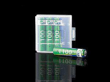 4er-Set NiMH-Akkus Typ AAA / Micro, 1.100 mAh, mit Aufbewahrungs-Box