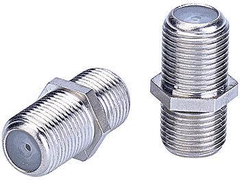 Sat.-Adapter F-Kupplung auf F-Kupplung (2er-Pack)