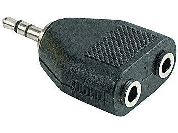 Stereo-Verteiler 3,5-mm-Klinken-Stecker auf 2x 3,5-mm-Klinken-Buchse