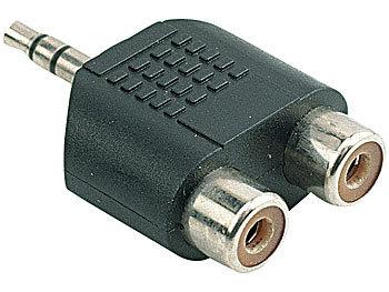 Audio-Adapter für MP3-Player auf Stereo-Anlage (Klinke auf 2x Cinch)