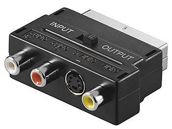 Adapterstecker SCART auf AV-Cinch / S-Video, umschaltbar