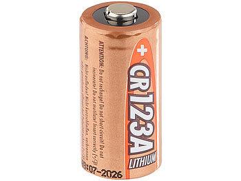 Foto-Lithium-Batterie Typ CR123A, 3 V, für Kleinbild- und SLR-Kameras